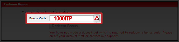 Intertops Poker Bonus Code
