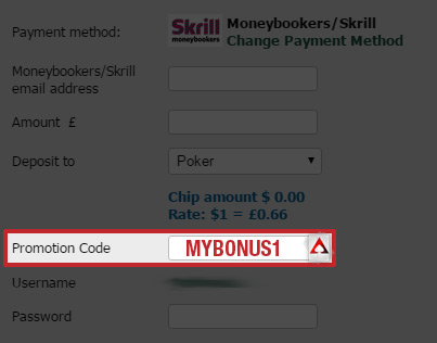 Paddy Power Poker Promotion Code MYBONUS1